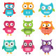 Owls Set  - GraphicRiver Item for Sale
