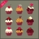 Set of  Cupcakes. - GraphicRiver Item for Sale