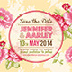 Shabby Chic Wedding Invitation Post Card - GraphicRiver Item for Sale