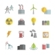 Energy Power Flat Icons Set - GraphicRiver Item for Sale