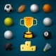 Sports Realistic Icons Set - GraphicRiver Item for Sale