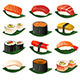 Sushi Icons - GraphicRiver Item for Sale