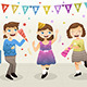 Girls Celebrating New Year Party - GraphicRiver Item for Sale