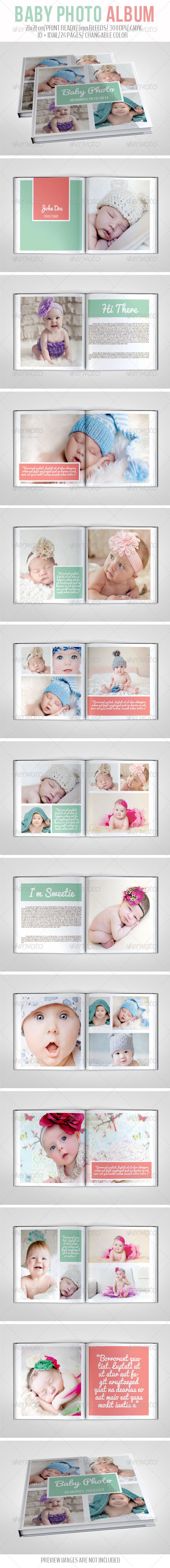 Baby Photo Album - Photo Albums Print Templates