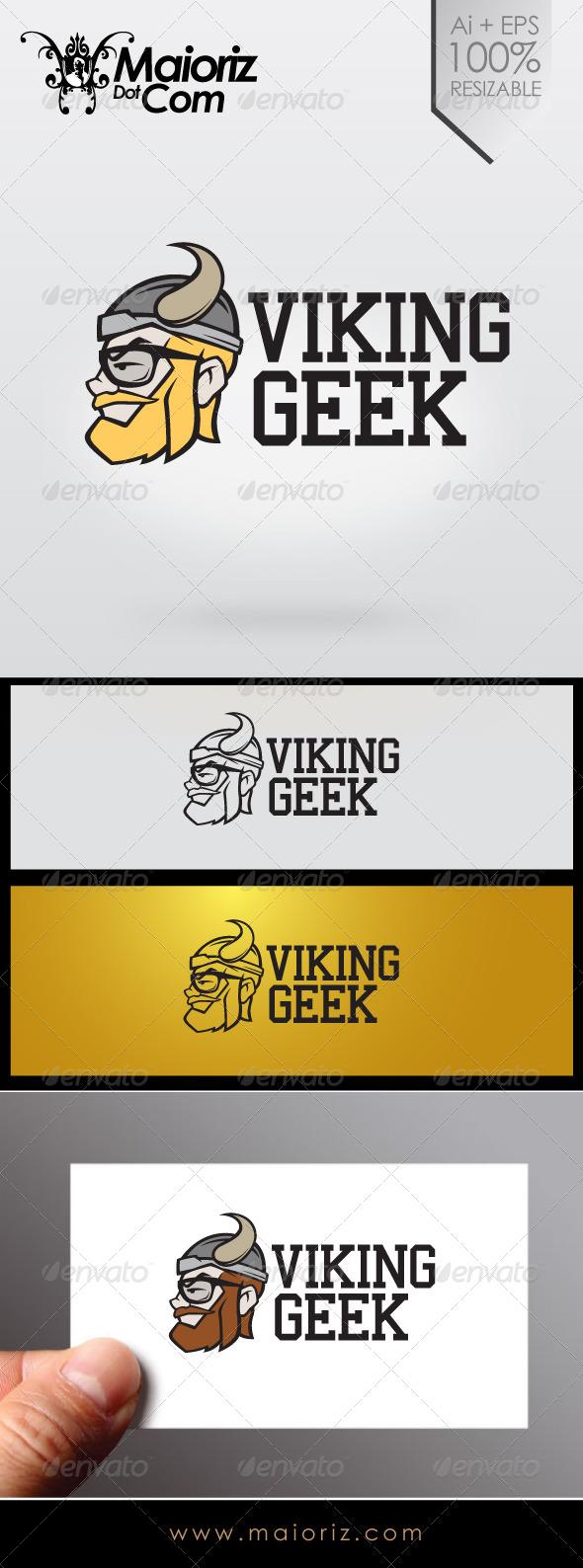 GraphicRiver Viking Geek Logo 6968302