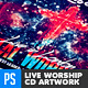 Christian Music Live Worship CD Artwork - GraphicRiver Item for Sale