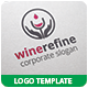 Wine Refine Logo Template - GraphicRiver Item for Sale