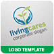 Living Cares Logo Template - GraphicRiver Item for Sale