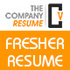 The Company Fresher Resume - GraphicRiver Item for Sale