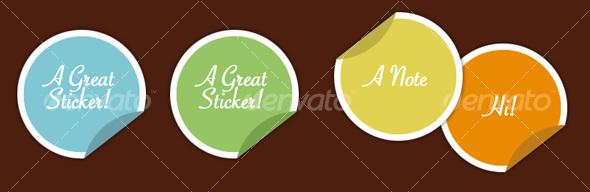 GraphicRiver Stickers 28701