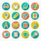 Set Flat Icons of School and Education - GraphicRiver Item for Sale