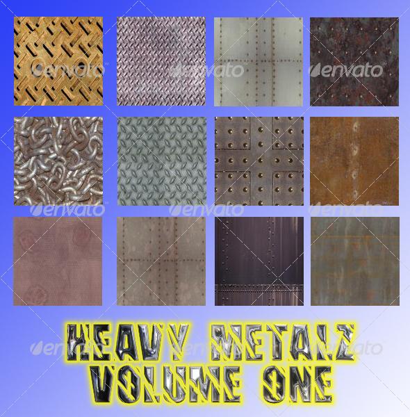 Graphic River Heavy Metalz Texturez Volume One TTD Graphics -  Backgrounds 28791