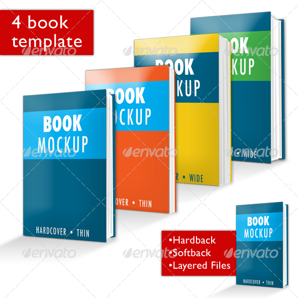 Graphic River Book Mockup PSD Graphics -  Product Mock-Ups  Miscellaneous 28873