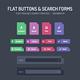 Flat Buttons & Search Forms - GraphicRiver Item for Sale