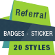 Referral Badges - Sticker - GraphicRiver Item for Sale