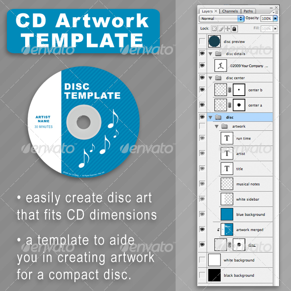 GraphicRiver CD Disc-Art Template 29269
