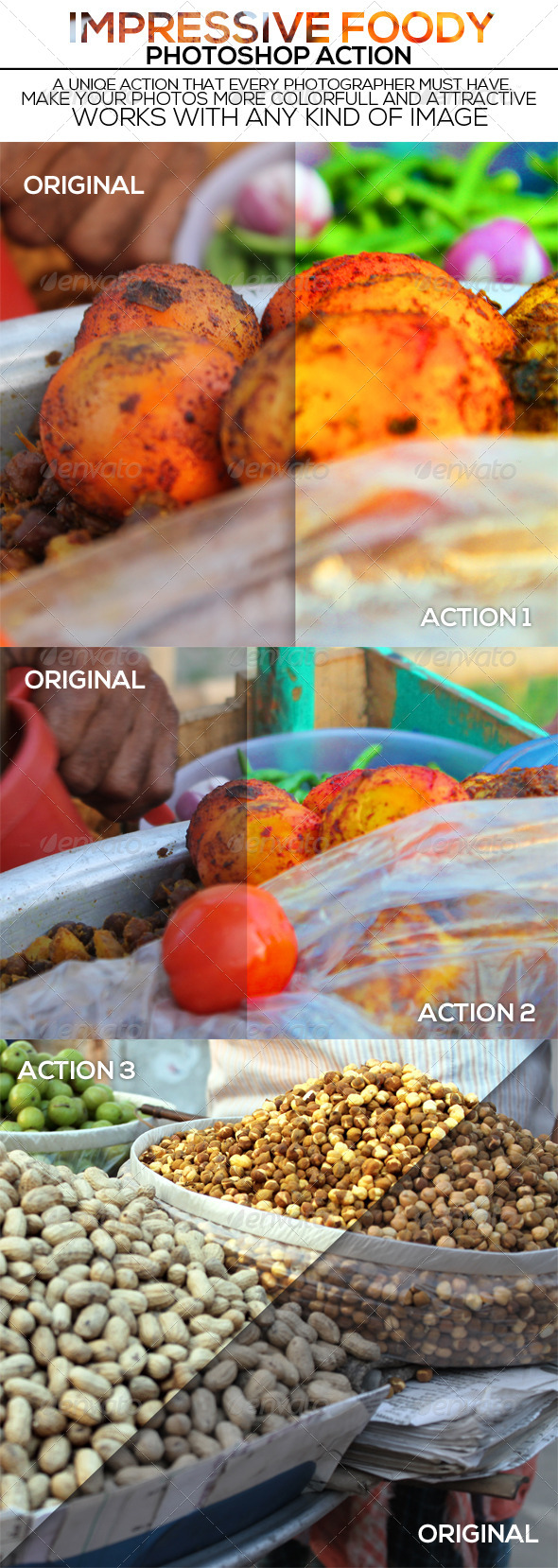 GraphicRiver Impressive Foody Photoshop Action 7003753