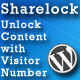 Sharelock: Unlock Content with Visitor Number - CodeCanyon Item for Sale
