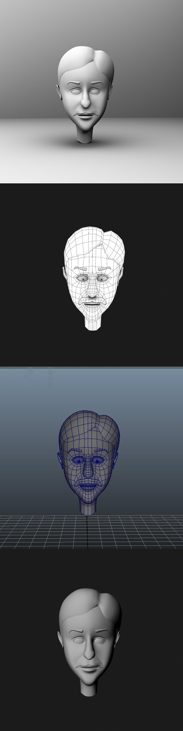 3DOcean Base Mesh Cartoon Character Head 7013349