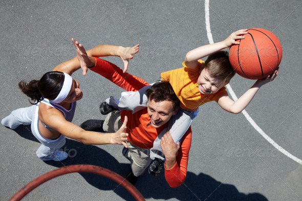 Stock Photo - PhotoDune Family of basketball players 735654Family Playing Sports Together