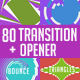 80 Transitions with Opener + 20 shapes - VideoHive Item for Sale