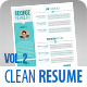 TheOne Clean Resume Set Vol. 2 - GraphicRiver Item for Sale