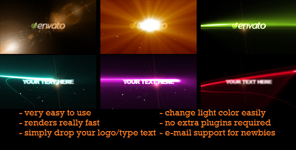 After Effects Project - VideoHive Light Sweeps Logo or Text 735910