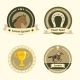 Horseback Riding Flat Badges and Labels - GraphicRiver Item for Sale