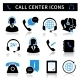 Call Center Service Icons Set - GraphicRiver Item for Sale
