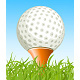 Golf Ball on the Grass - GraphicRiver Item for Sale