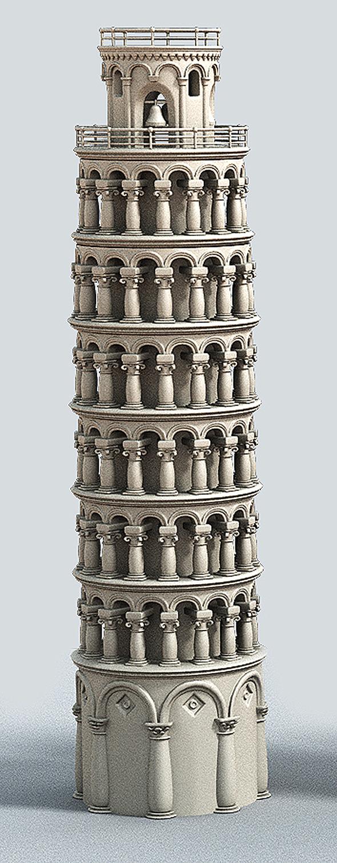 3DOcean Cartoon Tower of Pisa 7033983