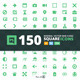 Square 150 Web-Icons - GraphicRiver Item for Sale