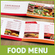 8 Pages Landscape A5 Food Menu - GraphicRiver Item for Sale
