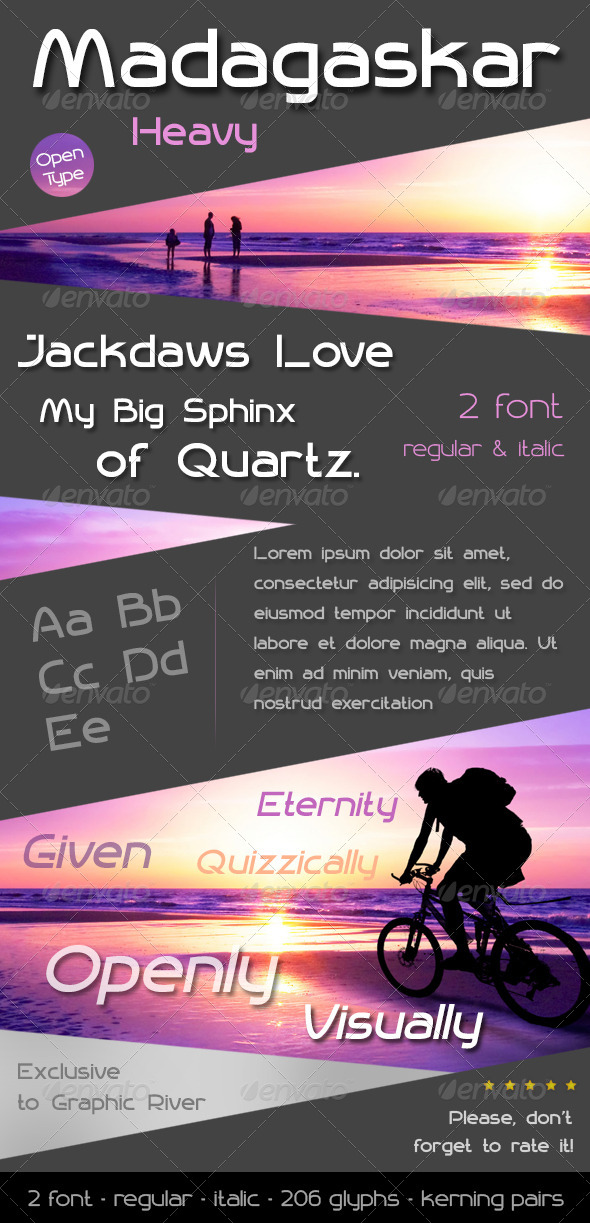 GraphicRiver Madagaskar Heavy Font 7044551