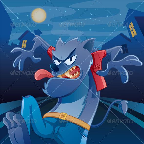Graphic River Werewolf Cartoon Vectors -  Characters 735609