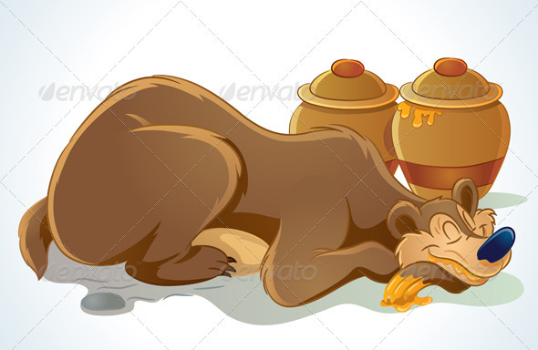 Graphic River Sleeping Bear Vectors -  Characters  Animals 739342