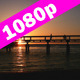 Bridge Above the Sea at Sunset - VideoHive Item for Sale