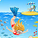 Girl Dives into the Sea - GraphicRiver Item for Sale