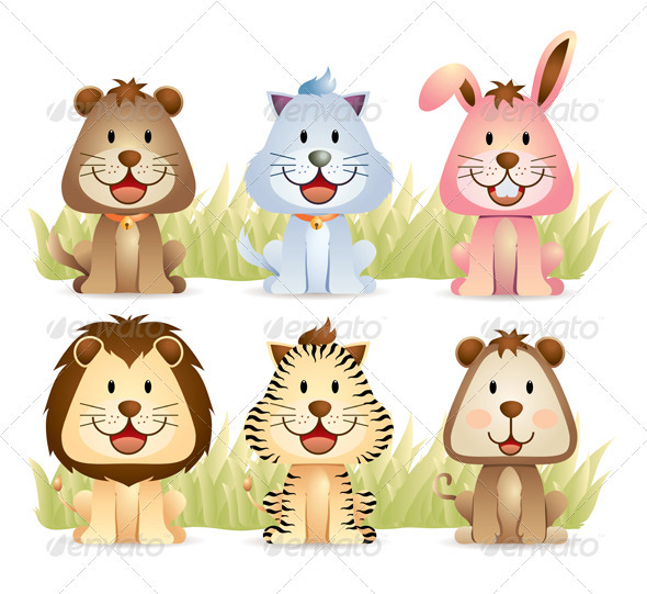 Graphic River Animal Collection Set Vectors -  Characters  Animals 739675