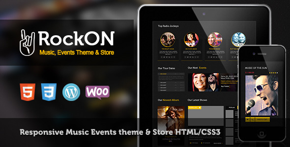 ThemeForest RockOn Multipurpose Music WP Theme 7057968