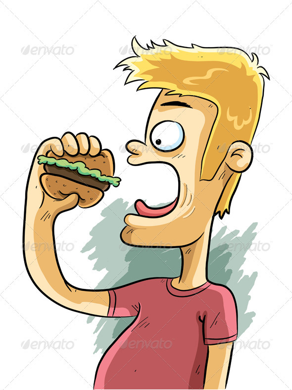 Graphic River Burger Time Vectors -  Characters  People 739988