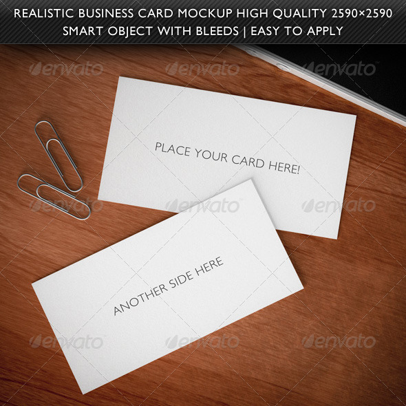 Graphic River Realistic 3D Business Card Mockup Graphics -  Product Mock-Ups 736111
