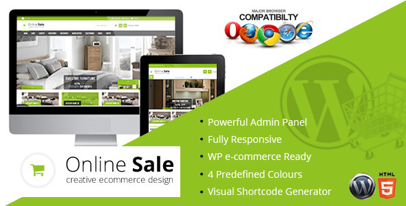 ThemeForest Online Sale Responsive wp-ecommerce Theme 7066349
