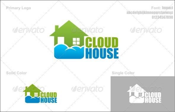 Graphic River Cloud House Logo Templates -  Buildings 741007