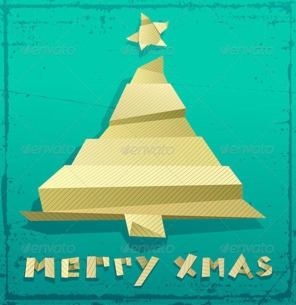 Graphic River Christmas Tree  Vectors -  Conceptual  Seasons/Holidays  Christmas 741078