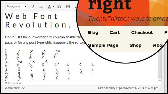 CodeCanyon Web Font Revolution Font Manager for WordPress 7067926