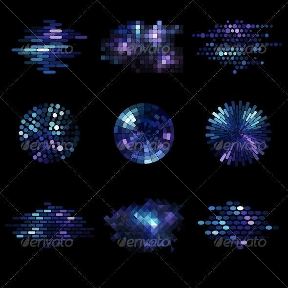 Graphic River Mosaic Icons Vectors -  Conceptual  Abstract 741166