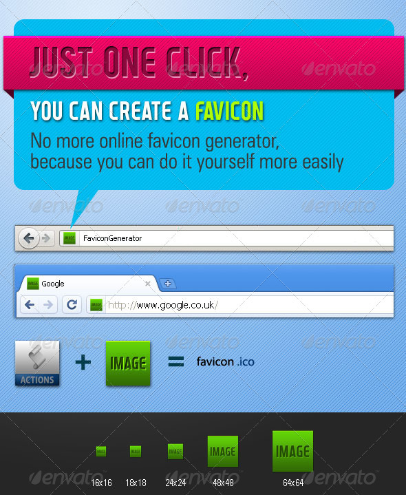 Graphic River Favicon Generator Action Add-ons -  Photoshop  Actions  Utilities 741740