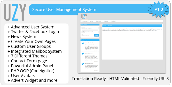 CodeCanyon UZY Secure PHP Login User Management System 7068585