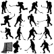 Set of Silhouettes of Hockey Players - GraphicRiver Item for Sale